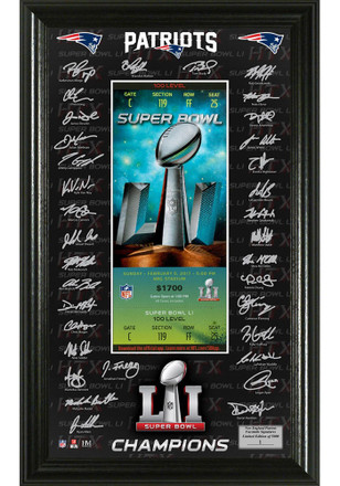 New England Patriots Super Bowl 51 Champions Framed Posters