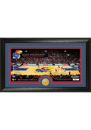 Kansas Jayhawks 7x15 Court Bronze Coin Panoramic Photo Mint Plaque