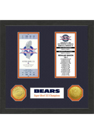 Chicago Bears 13x13 Super Bowl Ticket Collection Plaque