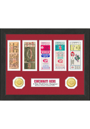 Cincinnati Reds 12x12 World Series Ticket Collection Plaque