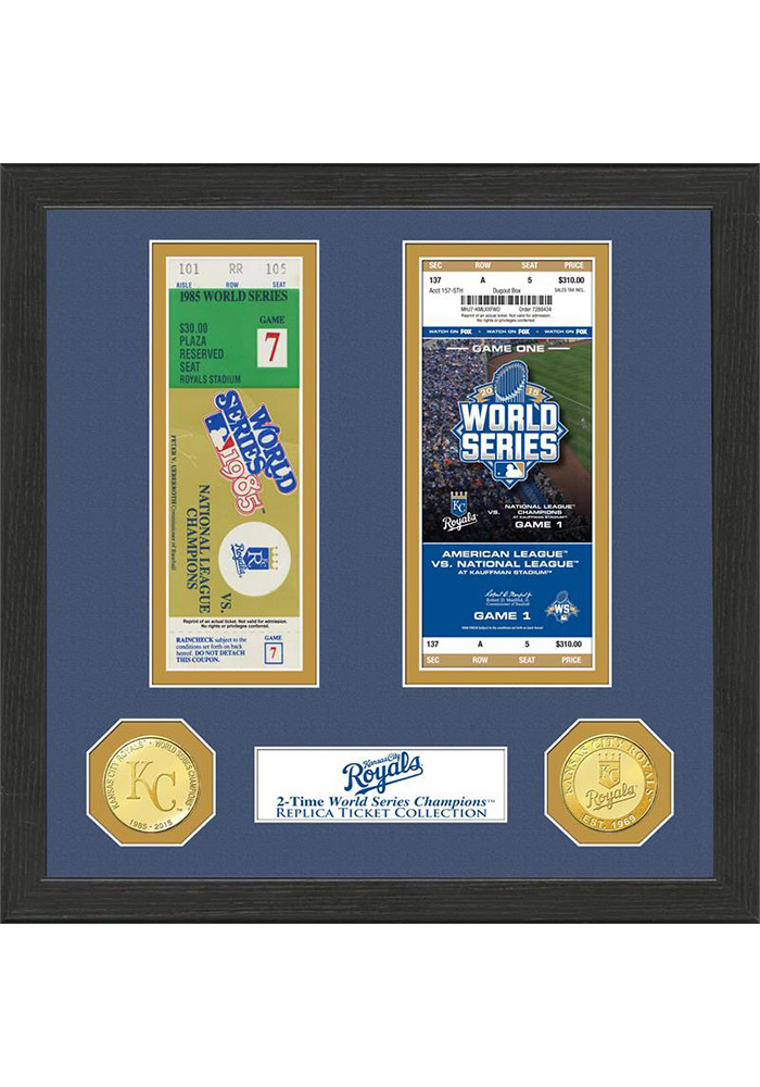 Kansas City Royals 12x12 World Series Ticket Collection Plaque - Image 1