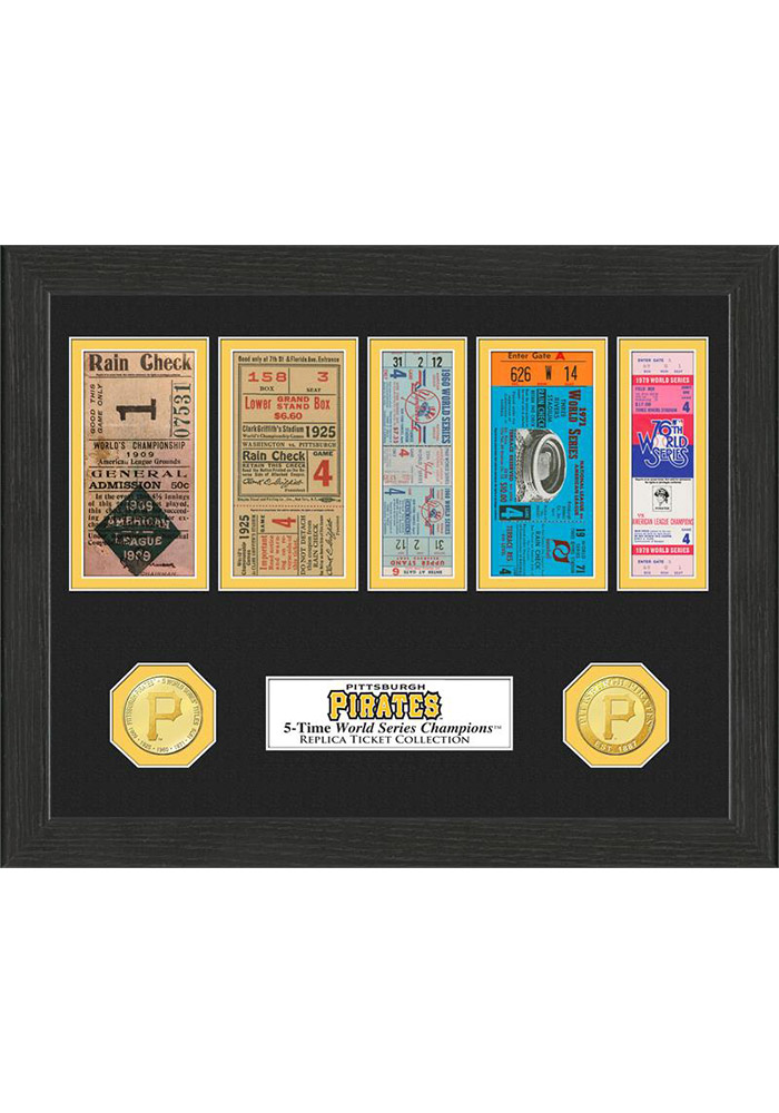 Pittsburgh Pirates 12x12 World Series Ticket Collection Plaque - Image 1