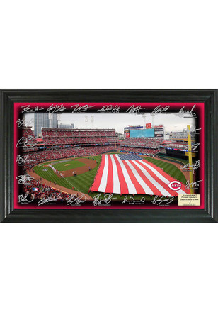 Cincinnati Reds 2017 12x20 Signature Field Plaque