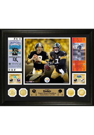 Terry Bradshaw Pittsburgh Steelers Super Bowl Traditions Bronze Coin Photo Mint Plaque
