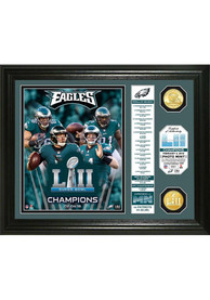Philadelphia Eagles Super Bowl LII Champions 13x16 Banner Bronze Plaque