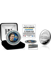 Los Angeles Chargers 2020 NFL Draft 1st Round Silver Collectible Coin