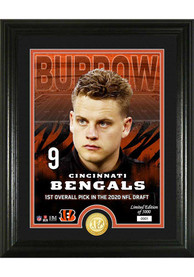 Joe Burrow Cincinnati Bengals 2020 NFL Draft Bronze Coin Photo Mint Plaque