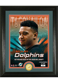 Tua Tagovailoa Miami Dolphins 2020 NFL Draft Bronze Coin Photo Mint Plaque