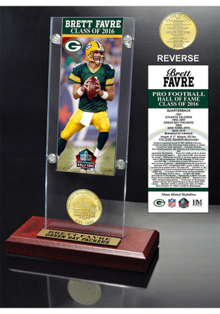 Green Bay Packers 2016 Pro Football Hall of Fame Ticket and Bronze Coin Collectible Coin