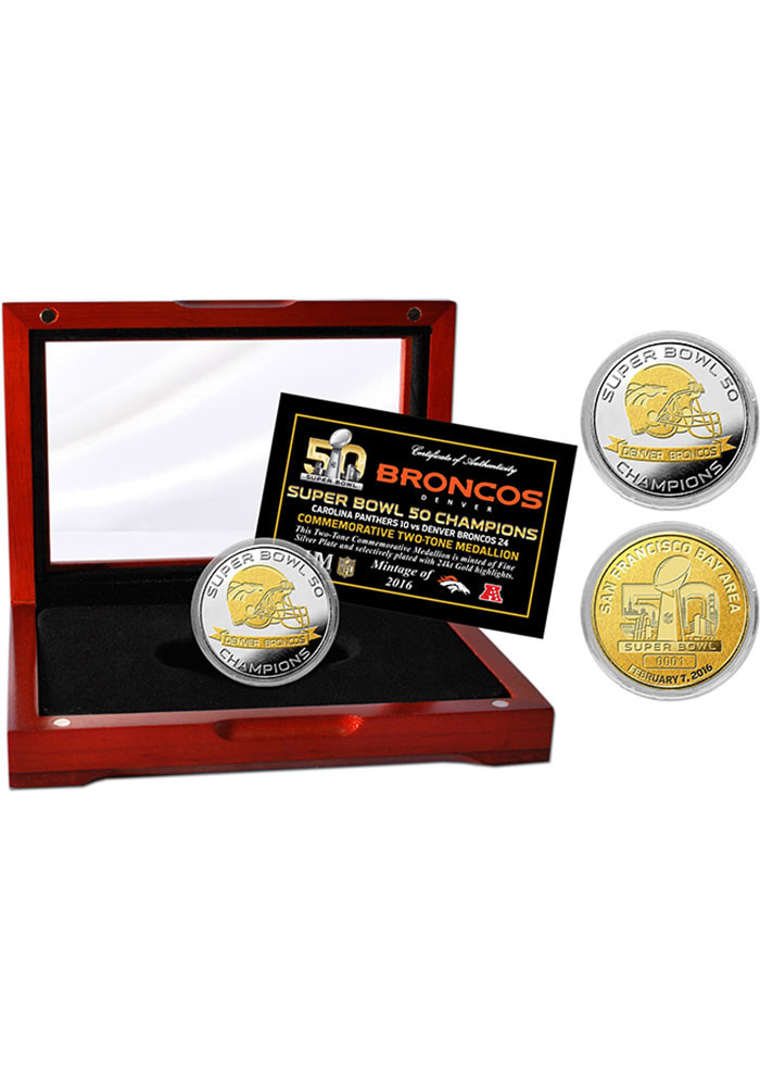 Denver Broncos Super Bowl 50 Champions Collectible Coin - Image 1