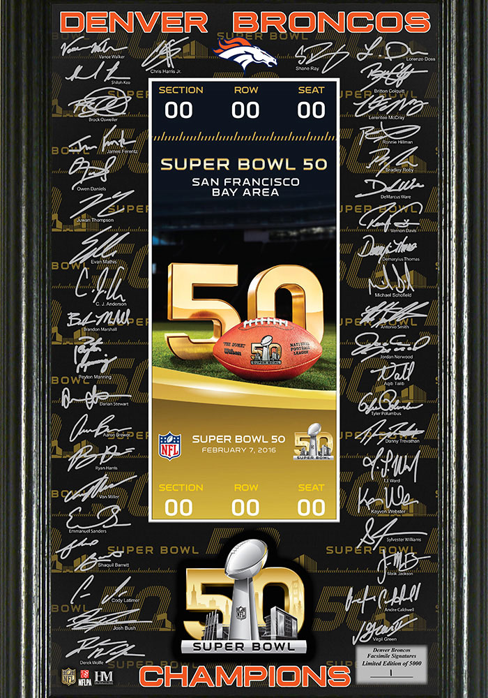 Denver Broncos Super Bowl 50 Champions Plaque - Image 1