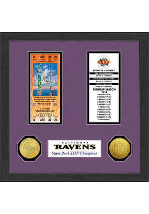Baltimore Ravens Super Bowl Championship Ticket Collection Plaque