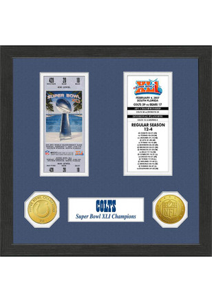 Indianapolis Colts Super Bowl Championship Ticket Collection Plaque
