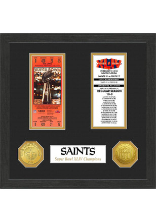 New Orleans Saints Super Bowl Championship Ticket Collection Plaque
