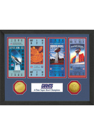 New York Giants Super Bowl Championship Ticket Collection Interior Rug