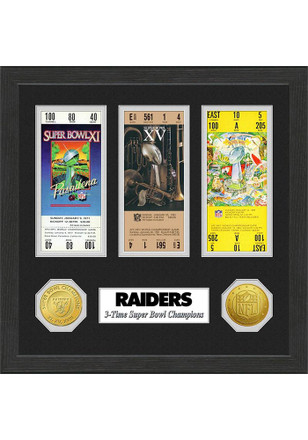 Oakland Raiders Super Bowl Championship Ticket Collection Plaque
