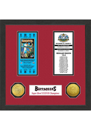 Tampa Bay Buccaneers Super Bowl Championship Ticket Collection Plaque