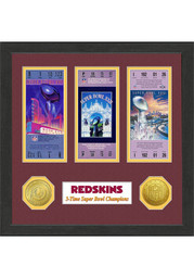 Washington Redskins Super Bowl Championship Ticket Collection Plaque