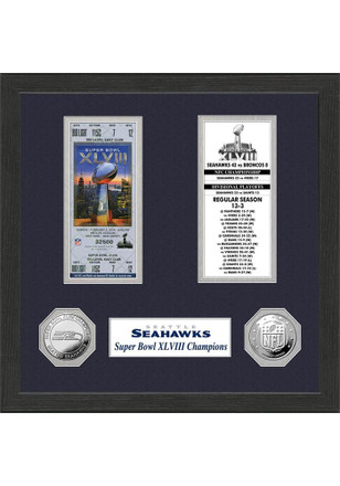 Seattle Seahawks Super Bowl Championship Ticket Collection Plaque