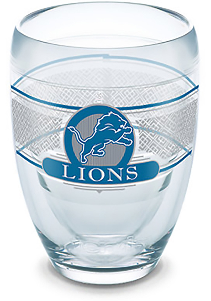 Detroit Lions Team Logo Stemless Wine Glass - Image 1