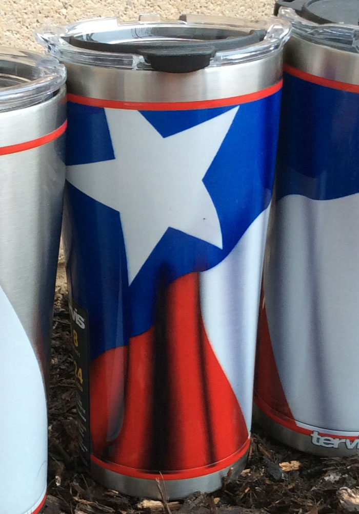 Tervis Tumblers Texas Flowing Flag 20oz Stainless Steel Tumbler - Blue - Image 3