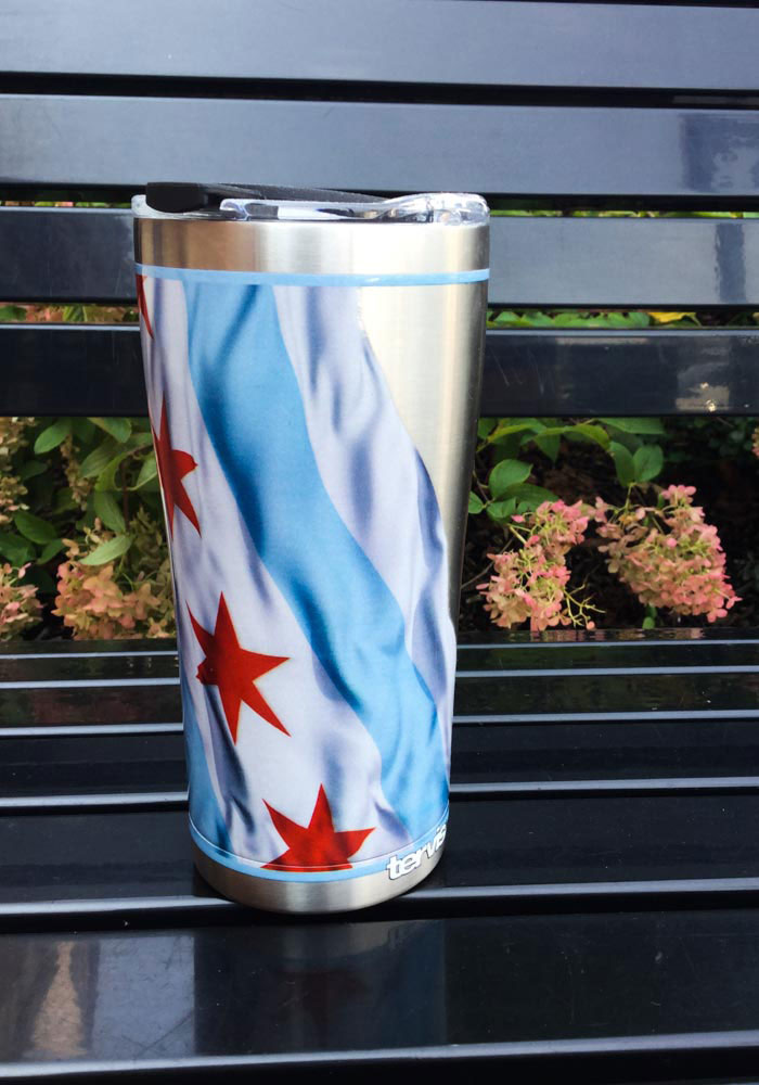 Tervis Tumblers Chicago Flowing Flag 20oz Stainless Steel Tumbler - Light Blue - Image 2