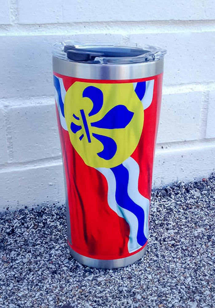 Tervis Tumblers St Louis Flowing Flag 20oz Stainless Steel Tumbler - Red - Image 2