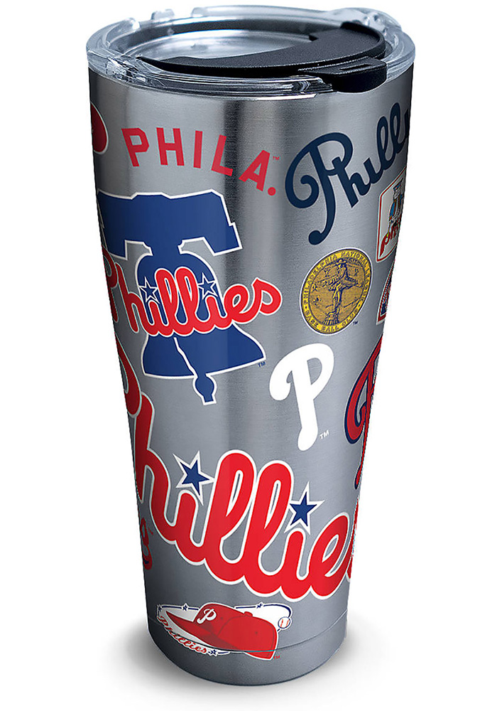 Tervis Tumblers Philadelphia Phillies All-Over 30oz Stainless Steel Tumbler - Silver - Image 1