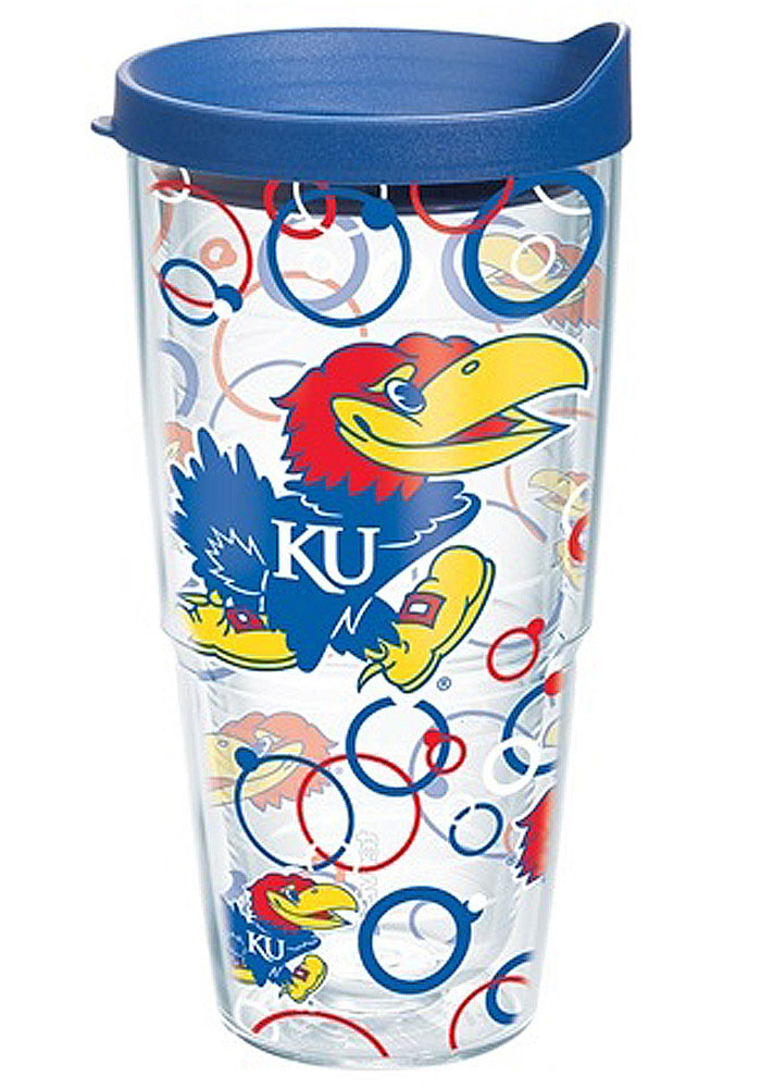 Kansas Jayhawks 24oz Bubble Wrap Tumbler - Image 1