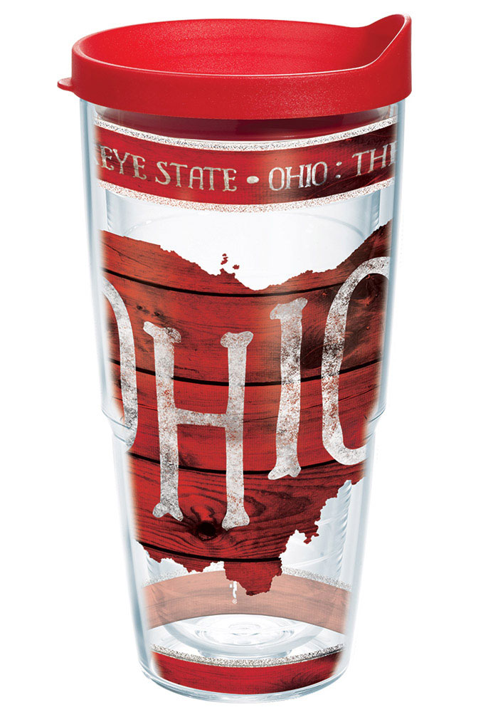 Ohio State Outline 24oz Tumbler - Image 1
