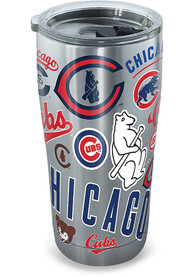 Chicago Cubs 20oz Grey Stainless Steel Tumbler