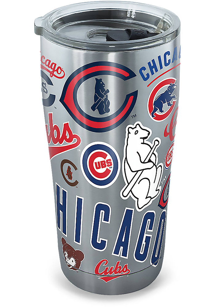 Chicago Cubs 30oz Grey Stainless Steel Tumbler - Image 2