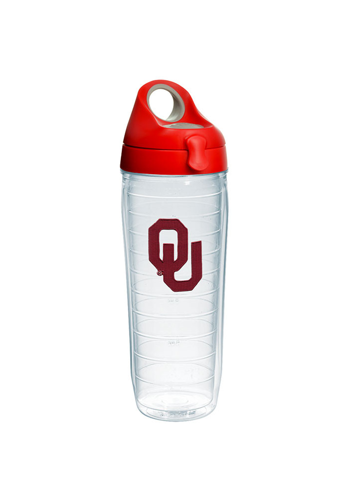 Oklahoma Sooners 24oz Clear Water Bottle - Image 1