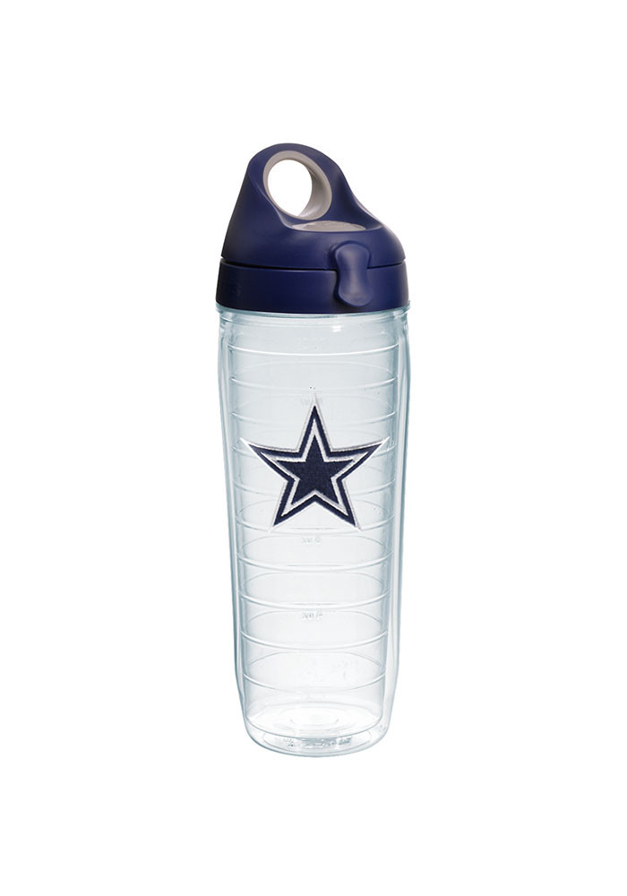 Dallas Cowboys 24oz Clear Water Bottle - Image 1