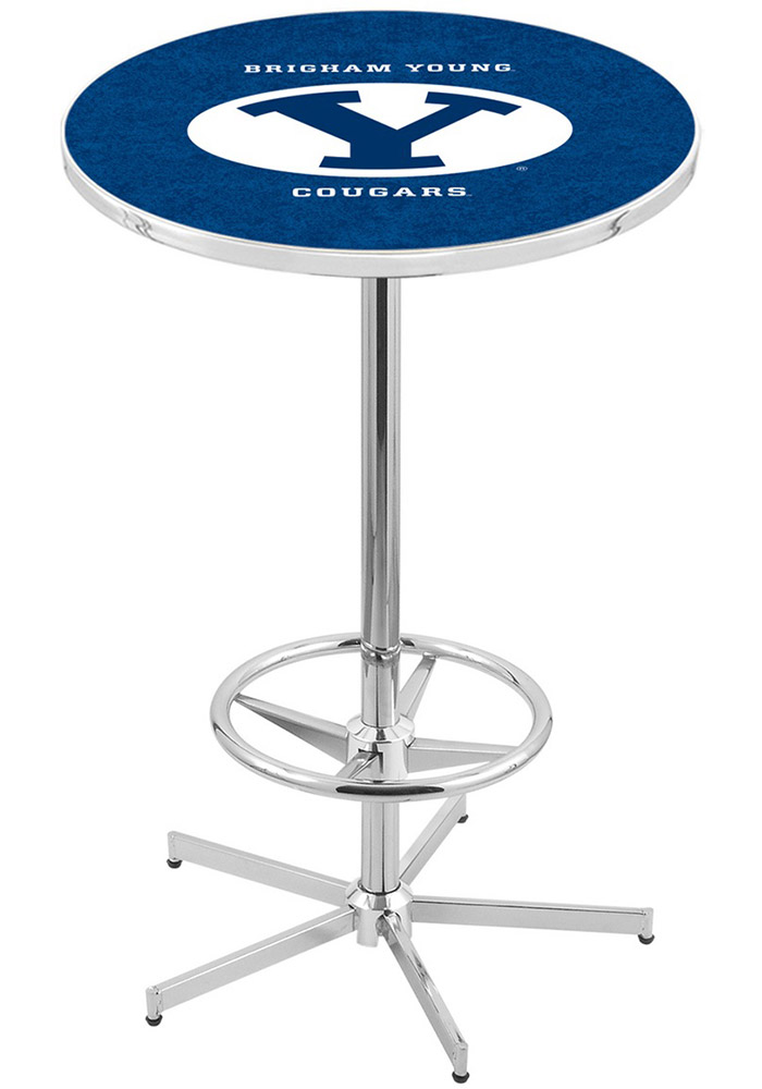 BYU Cougars Navy Pub Table - Image 1
