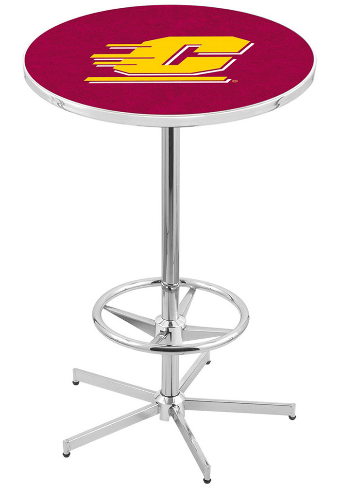 Central Michigan Chippewas Red Pub Table - Image 1
