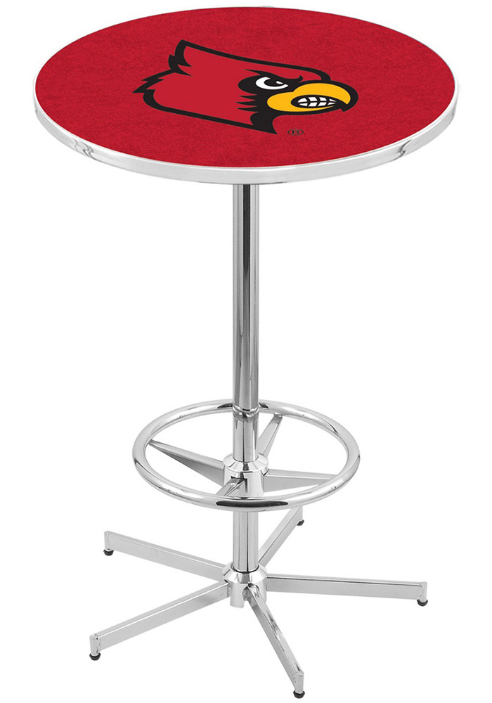 Louisville Cardinals Red Pub Table - Image 1
