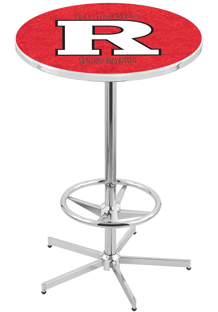Rutgers Scarlet Knights Red Pub Table - Image 1
