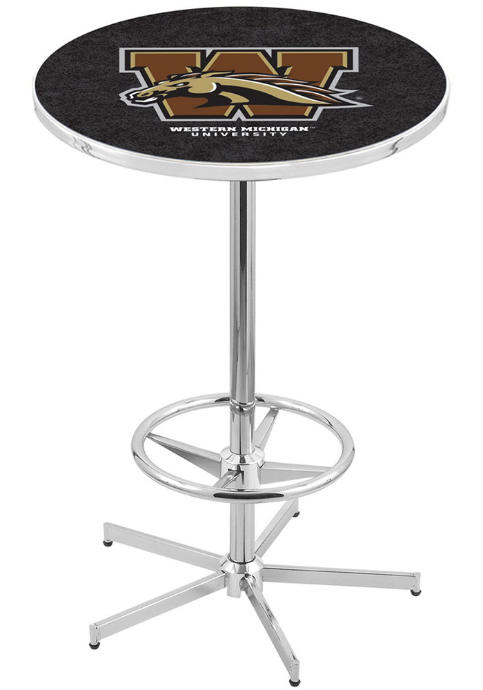 Western Michigan Broncos Black Pub Table - Image 1