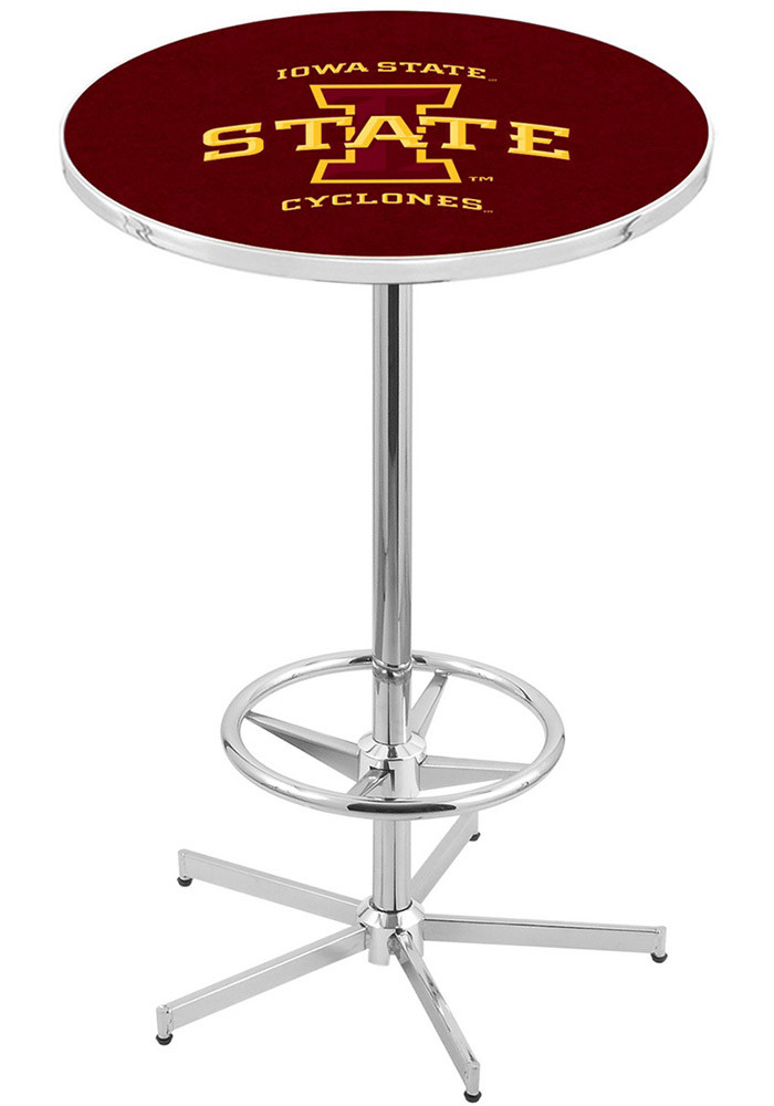 Iowa State Cyclones Red Pub Table - Image 1