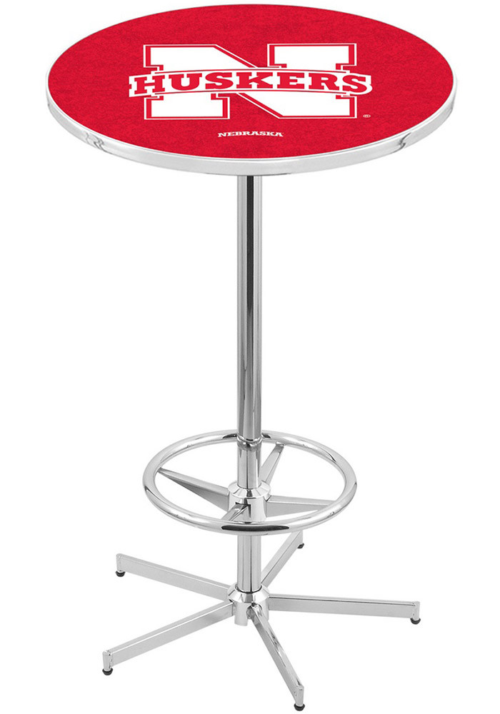 Nebraska Cornhuskers Red Pub Table - Image 1