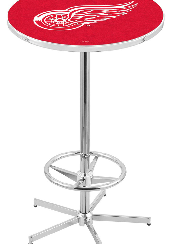 Detroit Red Wings Red Pub Table - Image 1