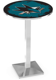 San Jose Sharks L217 36 Inch Pub Table