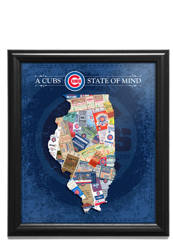 Chicago Cubs 15x18 State of Mind Picture Frame - Image 1