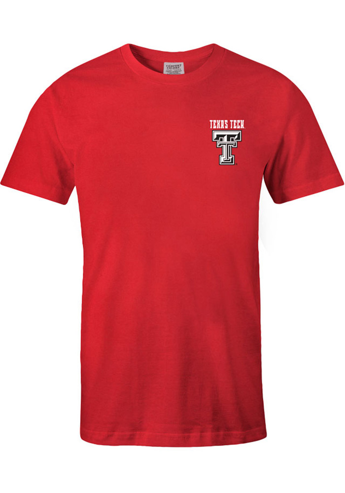 Texas Tech Red Raiders Womens Red Exclusive Short Sleeve Unisex Tee - Image 2