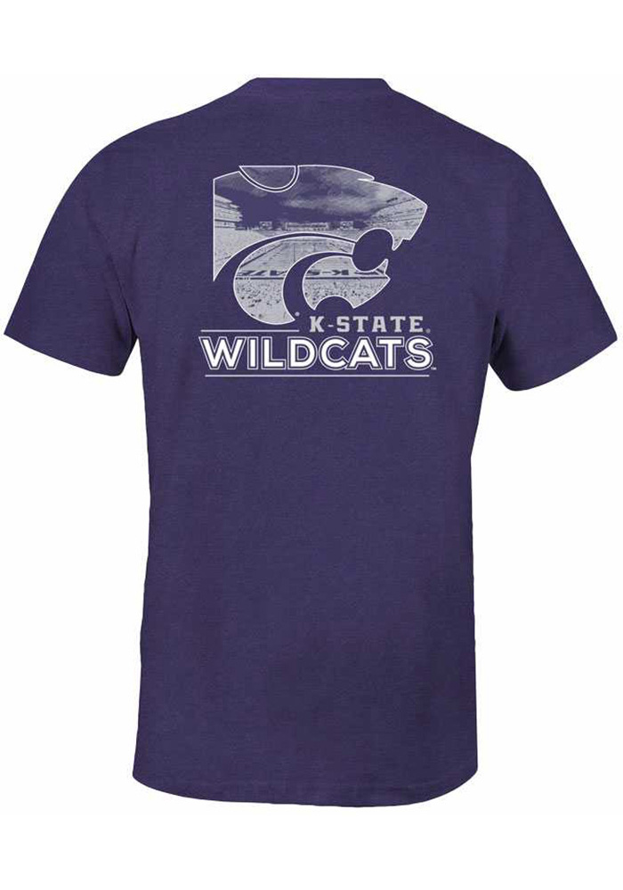 K-State Wildcats Womens Purple Exclusive Short Sleeve Unisex Tee - Image 1