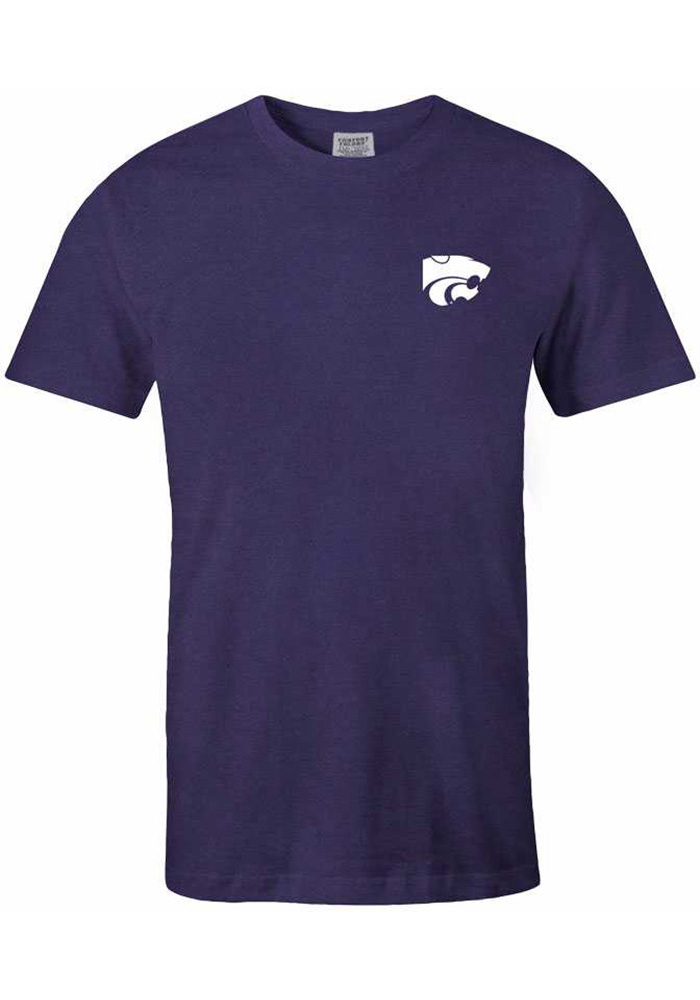 K-State Wildcats Womens Purple Exclusive Short Sleeve Unisex Tee - Image 2