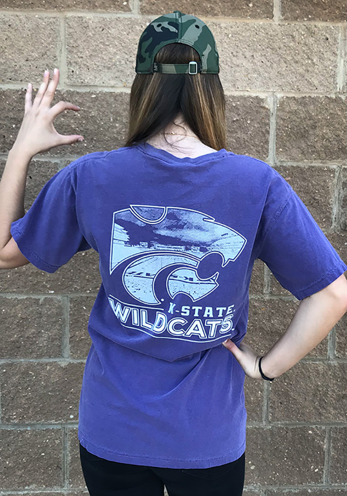 K-State Wildcats Womens Purple Exclusive Short Sleeve Unisex Tee - Image 4