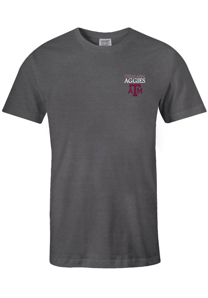 Texas A&M Aggies Womens Grey Exclusive Short Sleeve Unisex Tee - Image 2