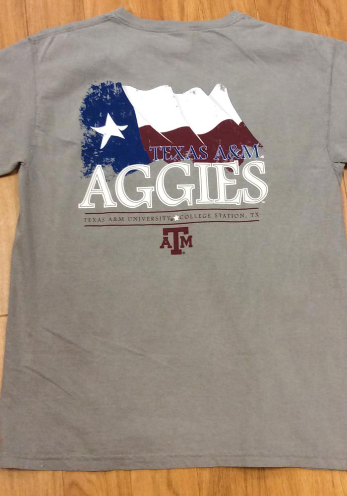 Texas A&M Aggies Womens Grey Exclusive Short Sleeve Unisex Tee - Image 3
